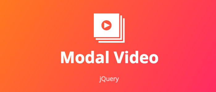 modal-video js - jQuery Modal Video Plugin made with love by appleple
